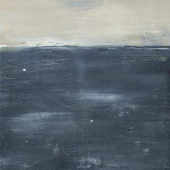Et la mer se fond dans le ciel (Huile sur papier marouflé, 30x40cm)