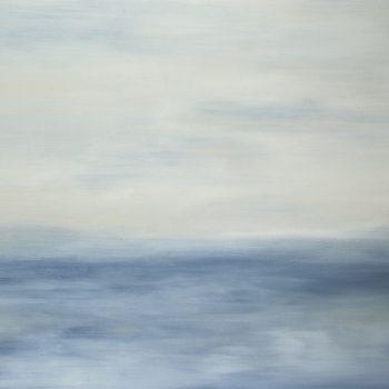 Sous un ciel bleu nacré à la Tiépolo (Huile sur toile, 89x116cm)