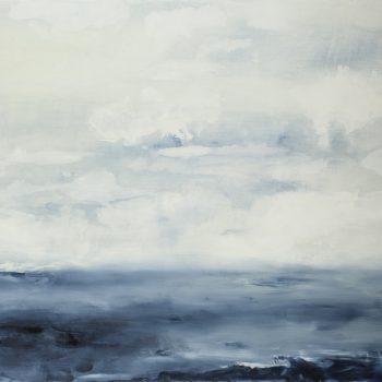Clarté limpide du matin (Huile sur toile, 89x116cm)