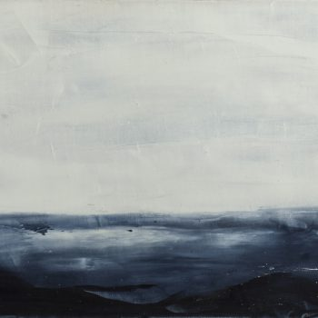 Disparue dans les vagues (Huile sur toile 30X40cm)